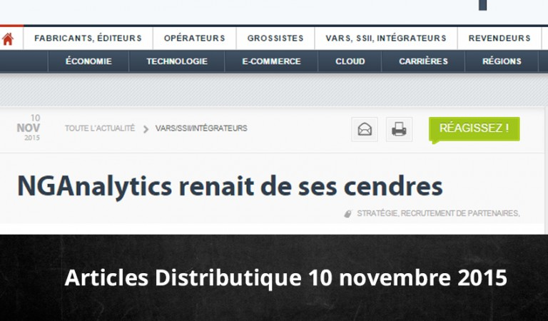 Distributique : NGAnalytics renait de ses cendres